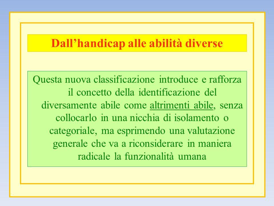Dall'handicap alle abilità diverse