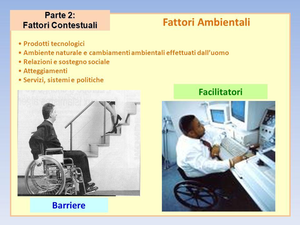 Fattori Ambientali Facilitatori Barriere Parte 2: Fattori Contestuali