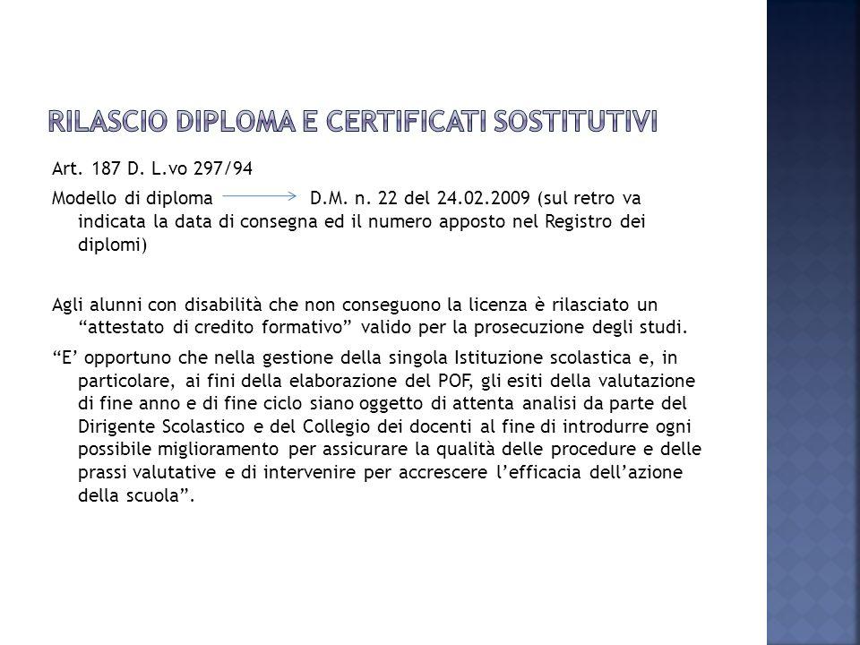 Rilascio diploma e certificati sostitutivi