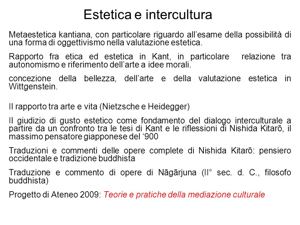 Estetica e intercultura