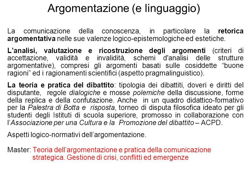 Argomentazione (e linguaggio)