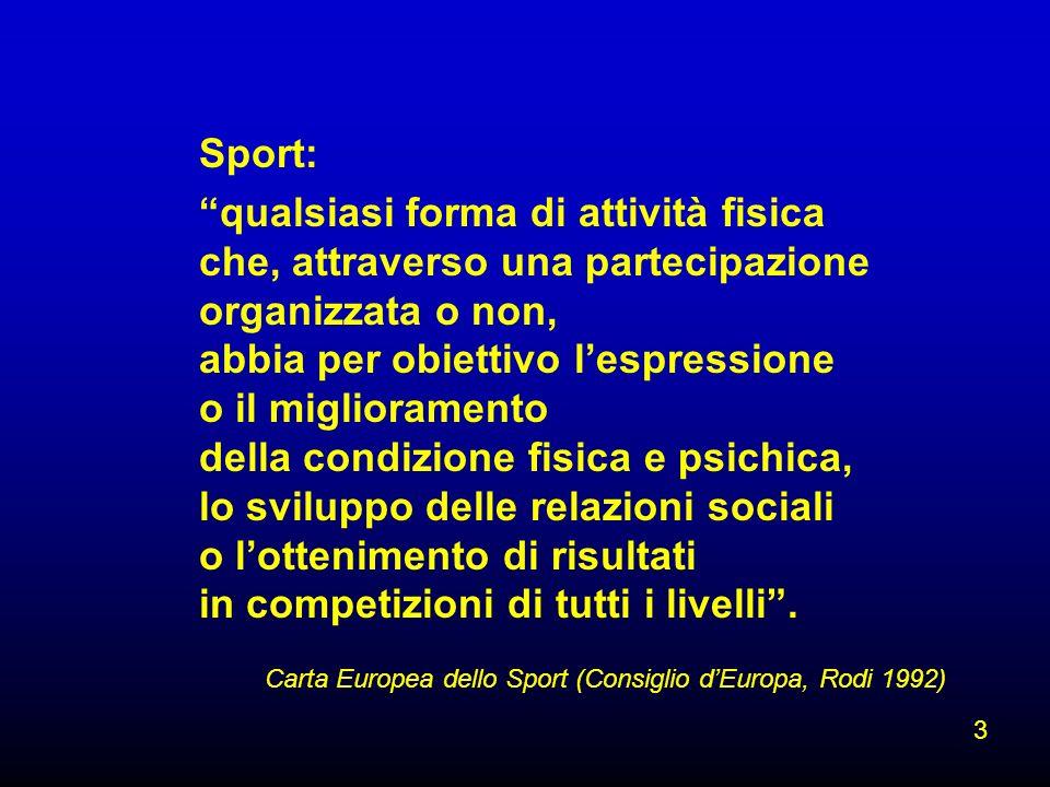 Carta Europea dello Sport (Consiglio d'Europa, Rodi 1992)