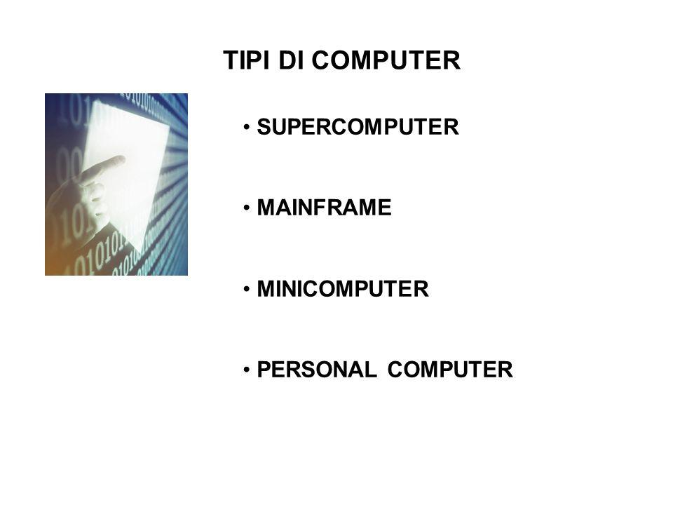 TIPI DI COMPUTER SUPERCOMPUTER MAINFRAME MINICOMPUTER