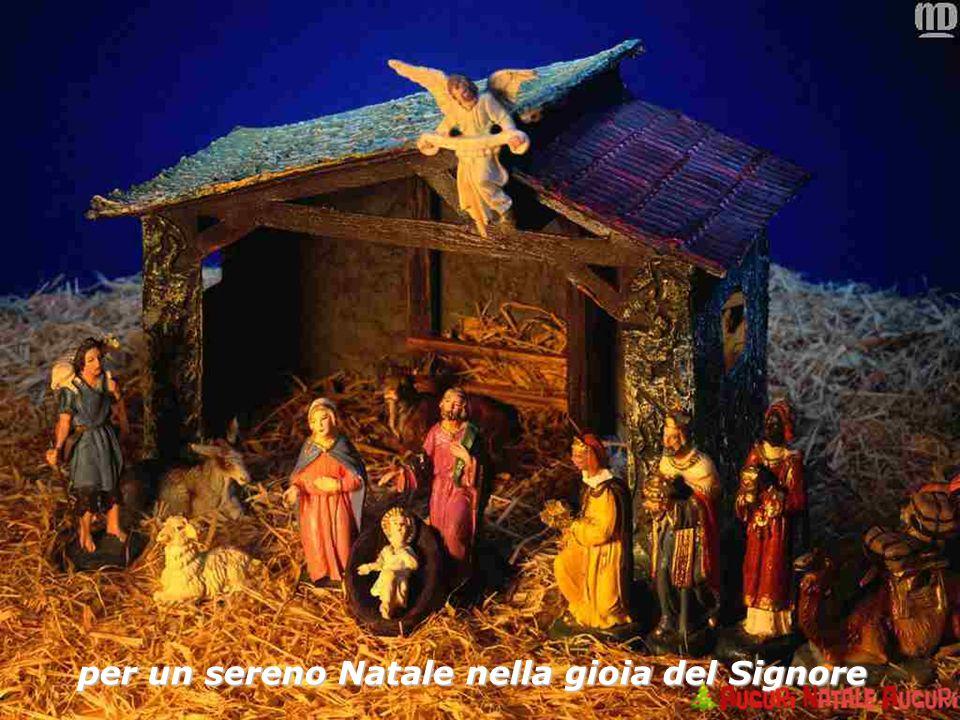 per un sereno Natale nella gioia del Signore