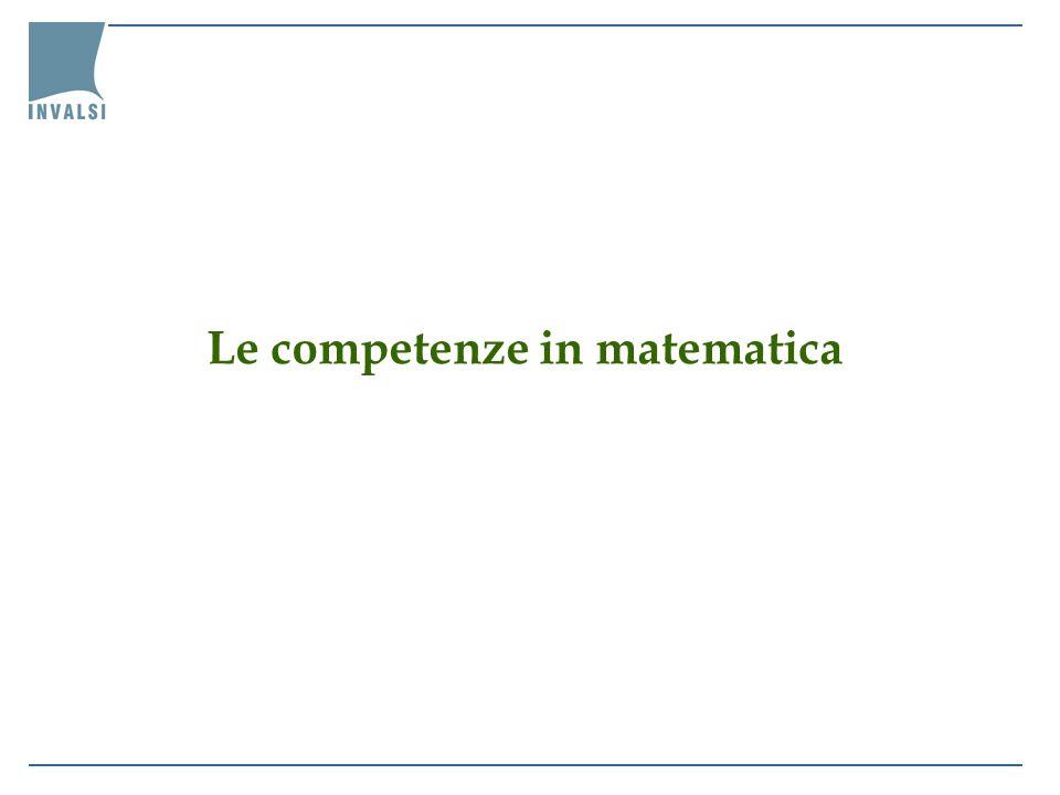 Le competenze in matematica