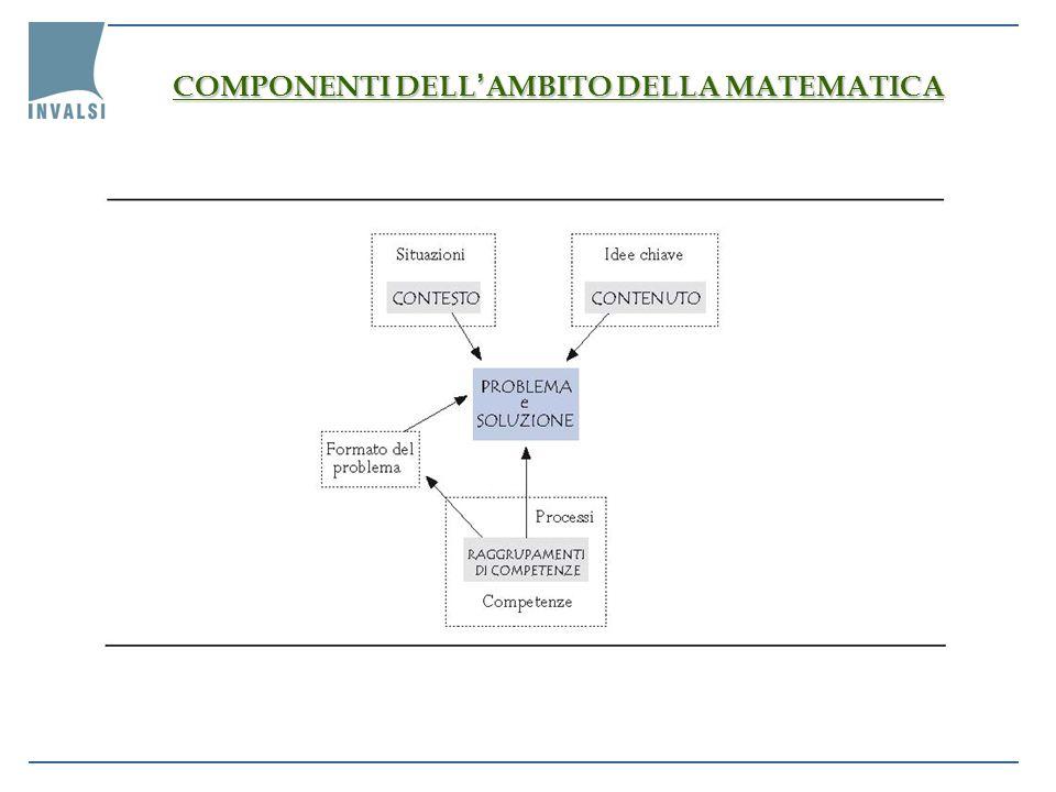 COMPONENTI DELL'AMBITO DELLA MATEMATICA
