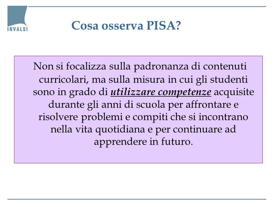Cosa osserva PISA