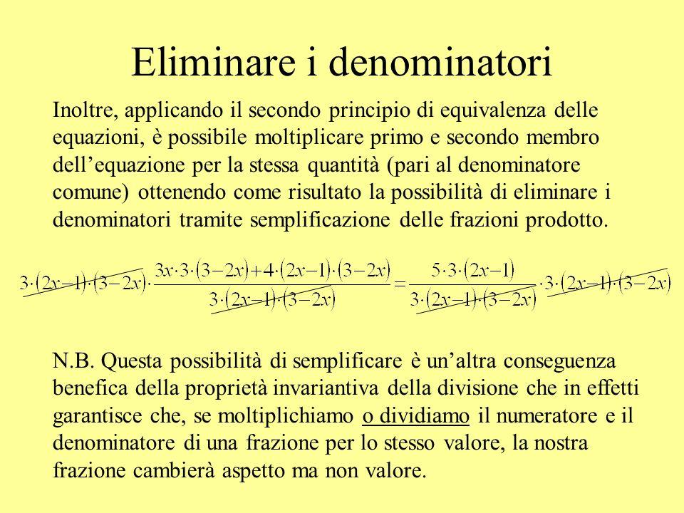 Eliminare i denominatori