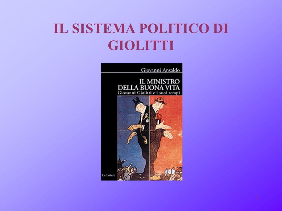 IL SISTEMA POLITICO DI GIOLITTI