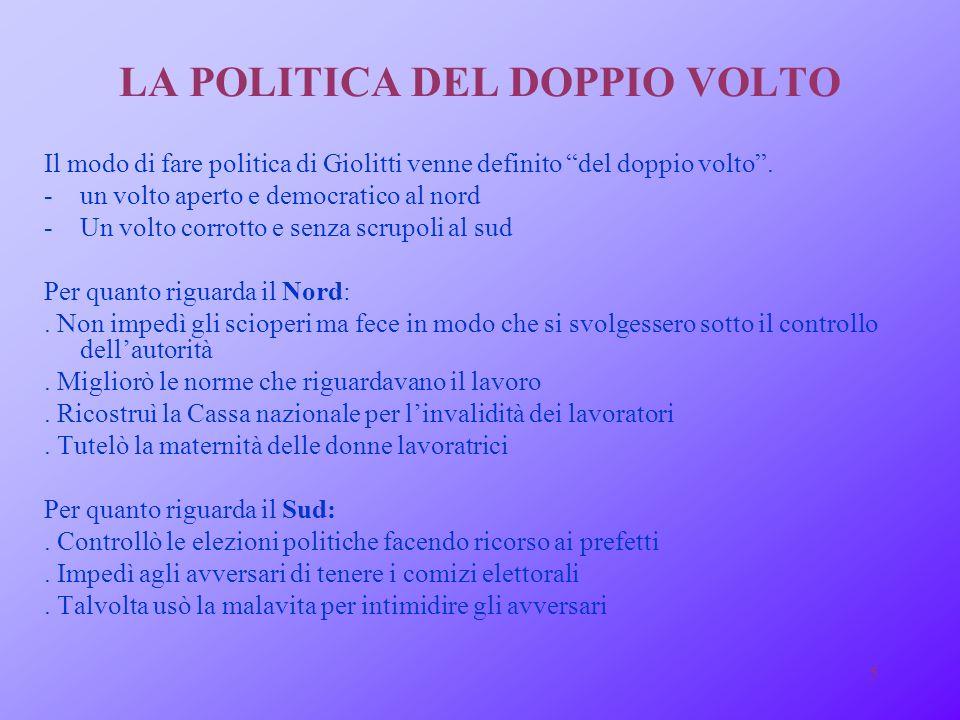 LA POLITICA DEL DOPPIO VOLTO