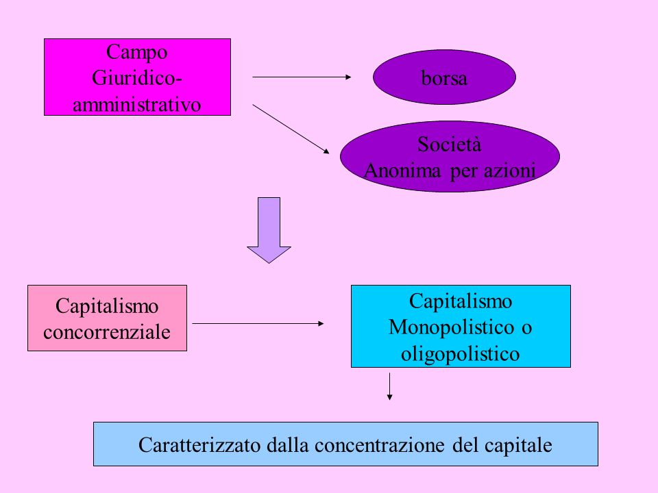 Caratterizzato dalla concentrazione del capitale