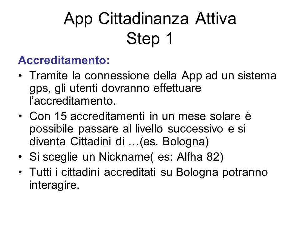App Cittadinanza Attiva Step 1