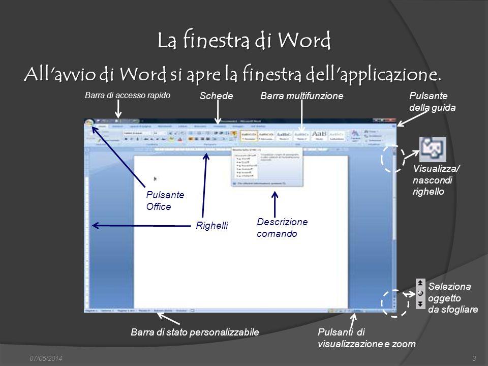 La finestra di Word All avvio di Word si apre la finestra dell applicazione. Barra di accesso rapido.