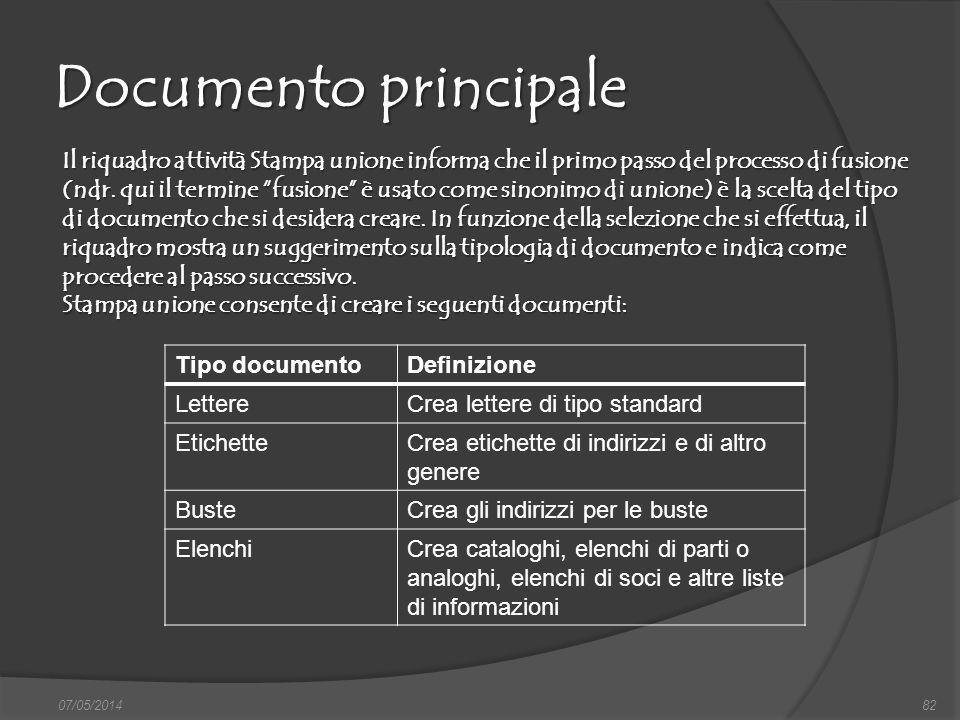 Documento principale