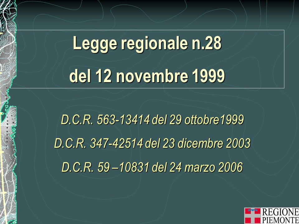 Legge regionale n.28 del 12 novembre 1999