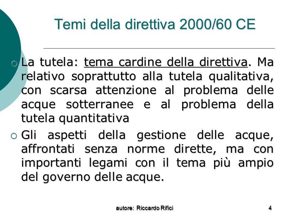 Temi della direttiva 2000/60 CE