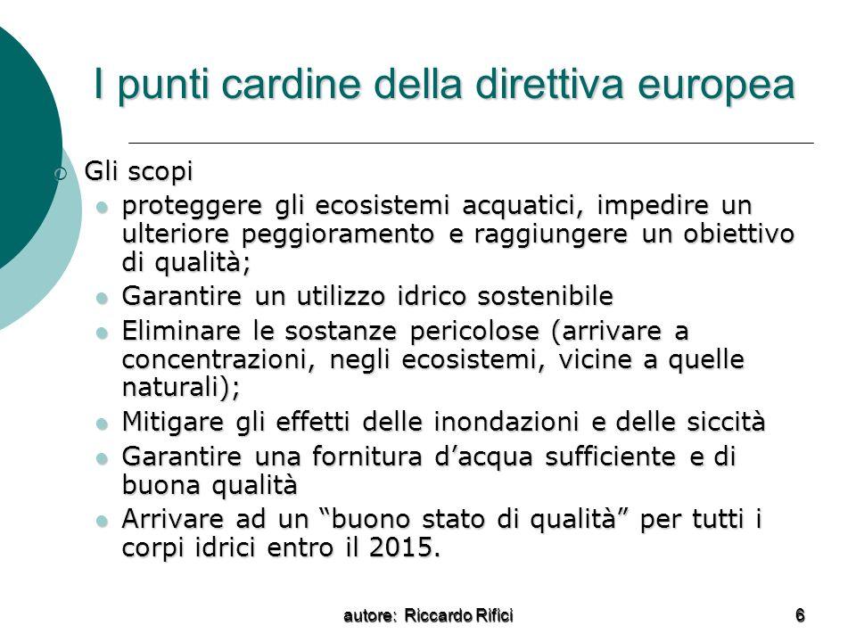 I punti cardine della direttiva europea