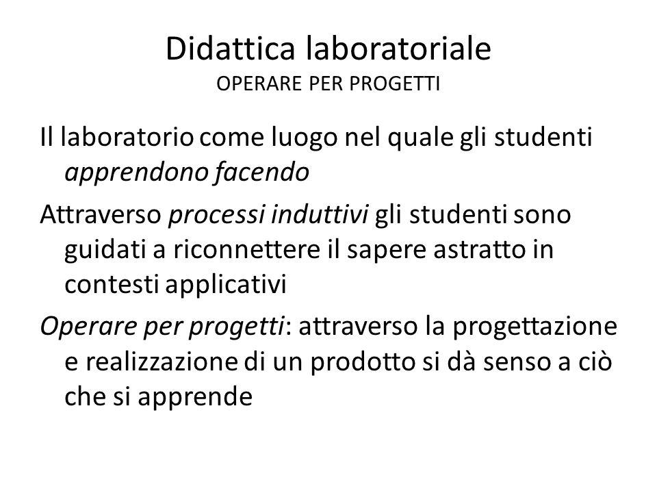 Didattica laboratoriale OPERARE PER PROGETTI