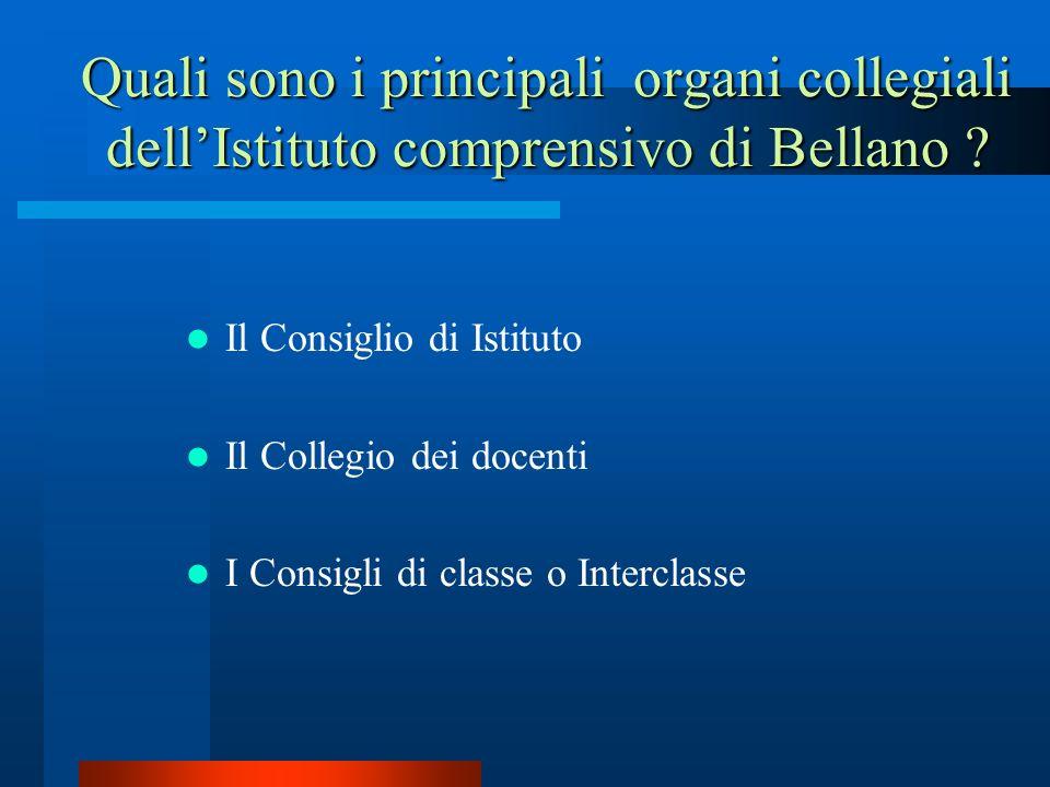 Quali sono i principali organi collegiali dell'Istituto comprensivo di Bellano