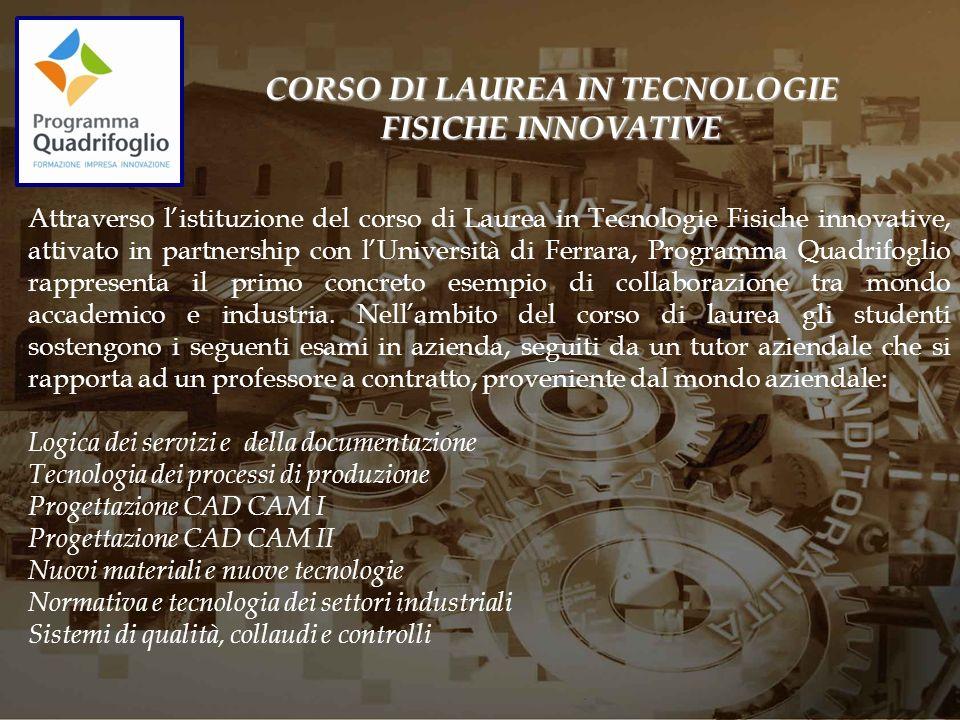 CORSO DI LAUREA IN TECNOLOGIE FISICHE INNOVATIVE