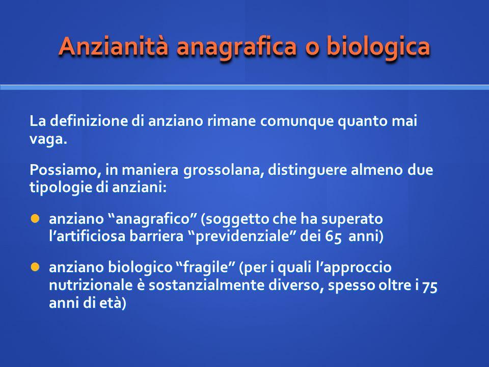 Anzianità anagrafica o biologica