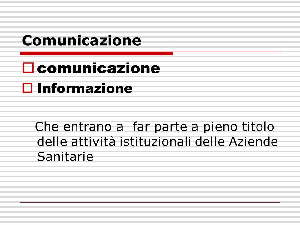 comunicazione Comunicazione Informazione