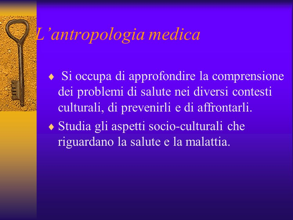 L'antropologia medica