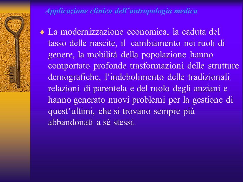 Applicazione clinica dell'antropologia medica