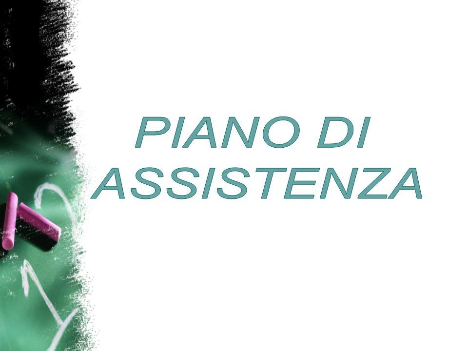PIANO DI ASSISTENZA