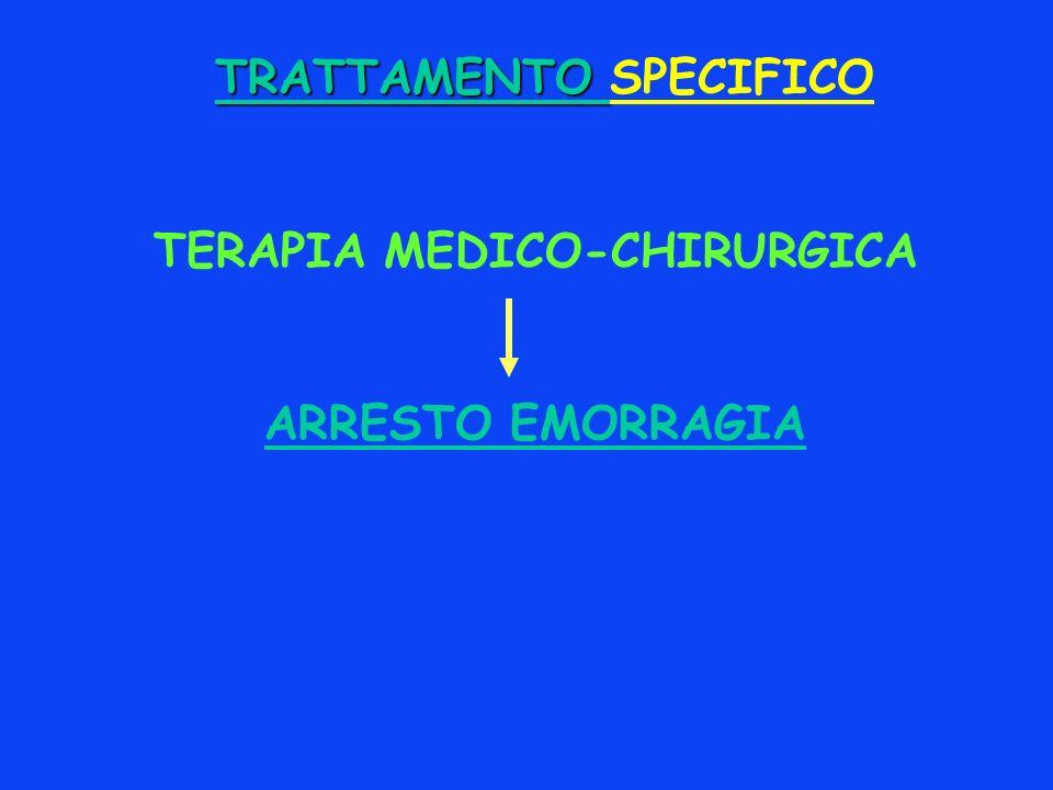 TRATTAMENTO SPECIFICO TERAPIA MEDICO-CHIRURGICA