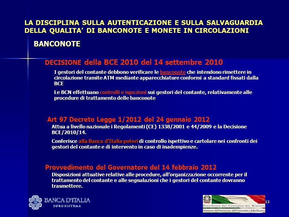 Art 97 Decreto Legge 1/2012 del 24 gennaio 2012