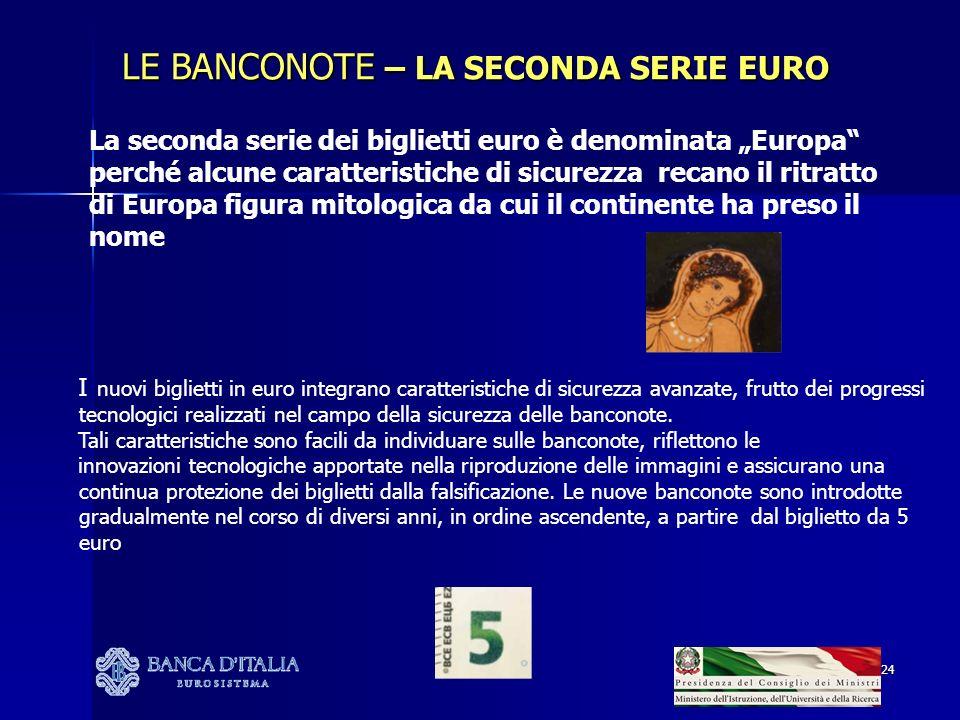 LE BANCONOTE – LA SECONDA SERIE EURO
