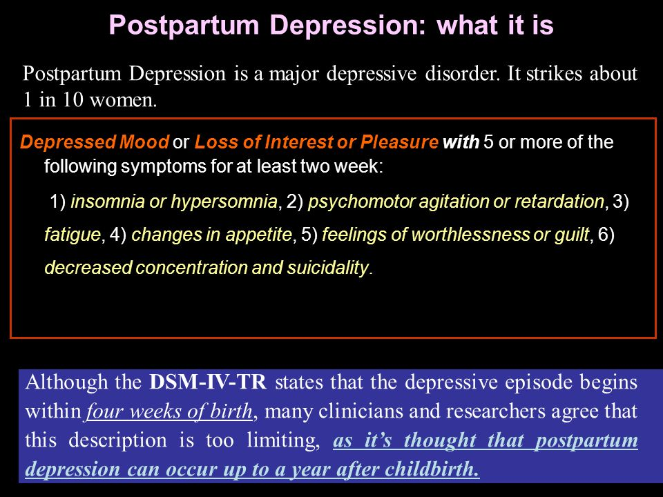 Postpartum Depression: what it is