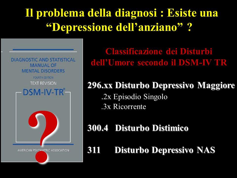 Classificazione dei Disturbi dell'Umore secondo il DSM-IV TR