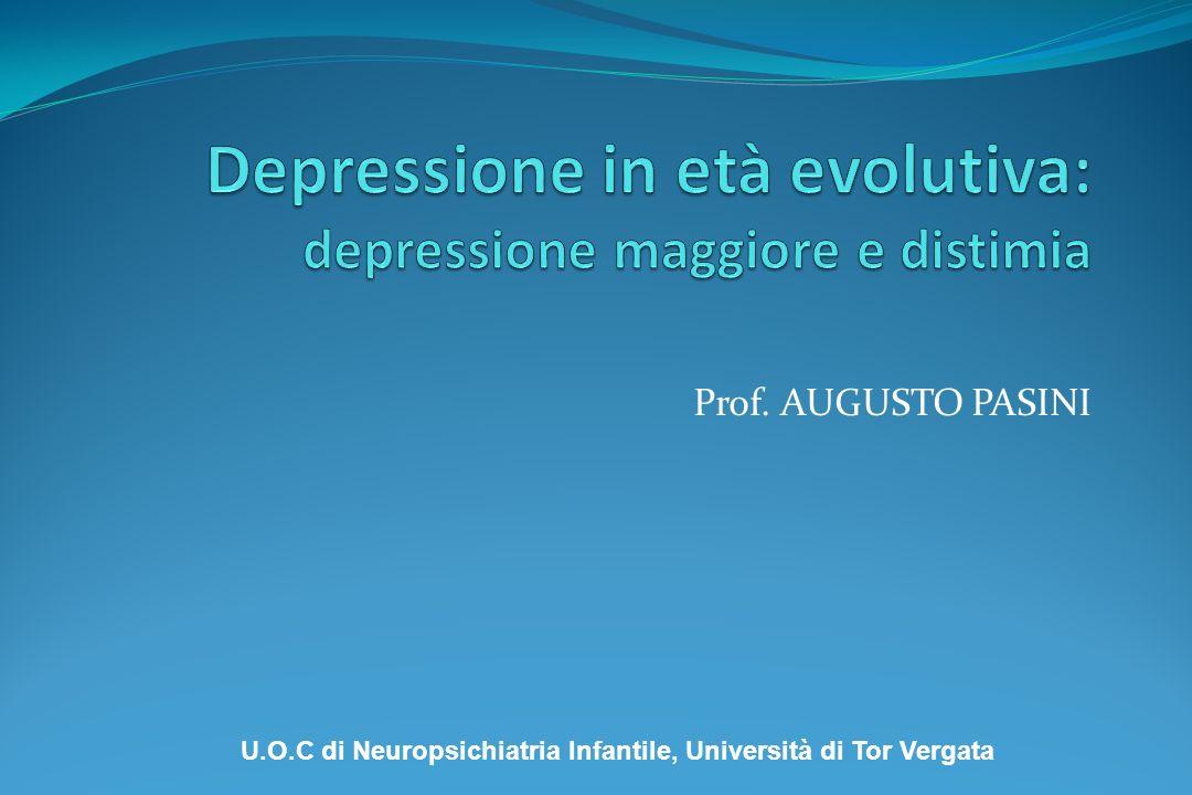 Depressione in età evolutiva: depressione maggiore e distimia