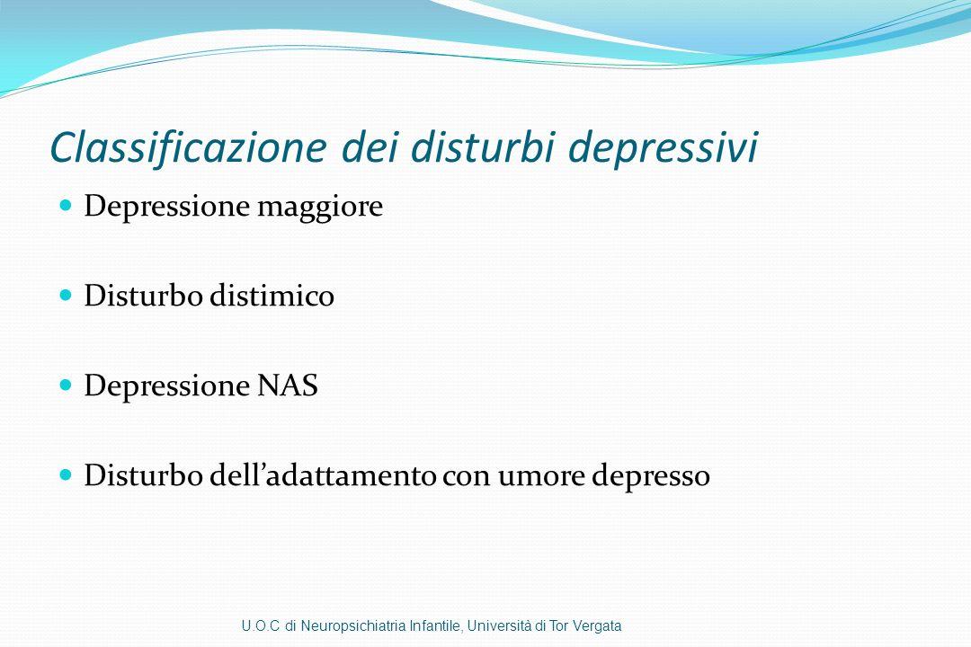 Classificazione dei disturbi depressivi
