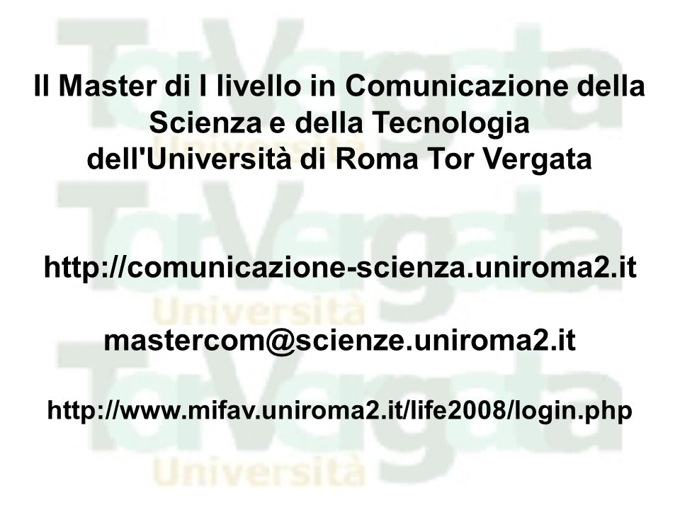 dell Università di Roma Tor Vergata