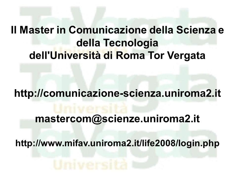 Il Master in Comunicazione della Scienza e della Tecnologia