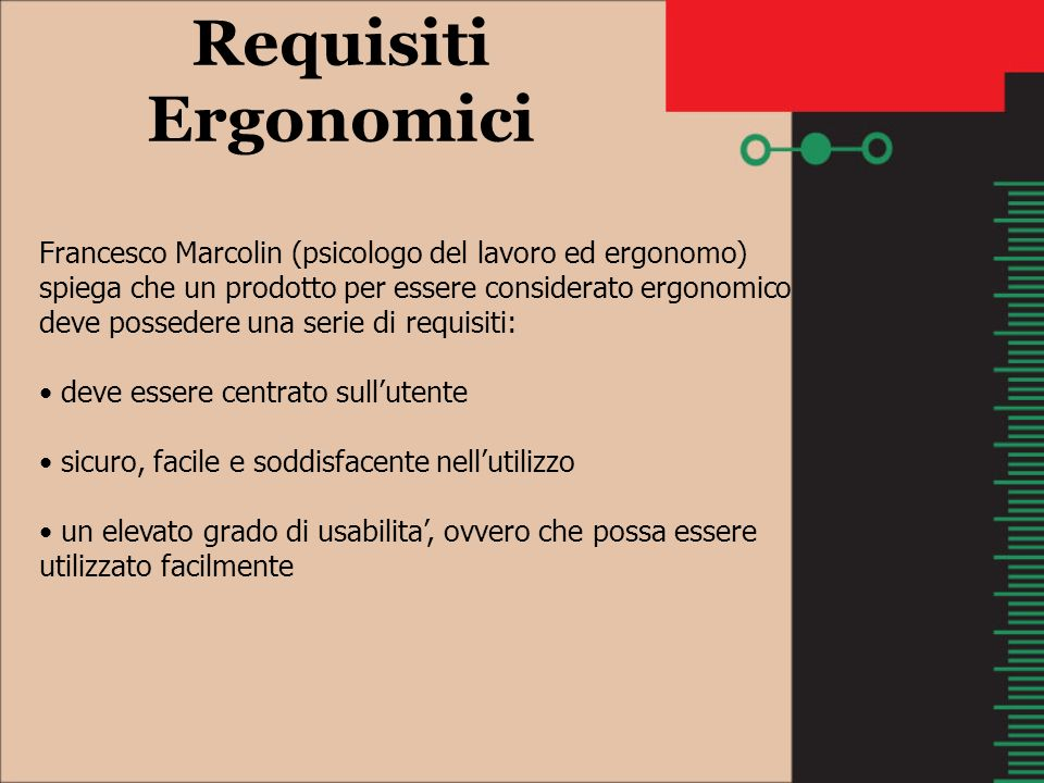 Requisiti Ergonomici
