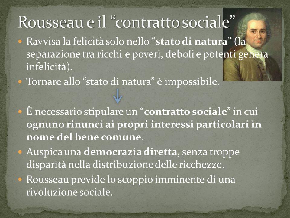 Rousseau e il contratto sociale