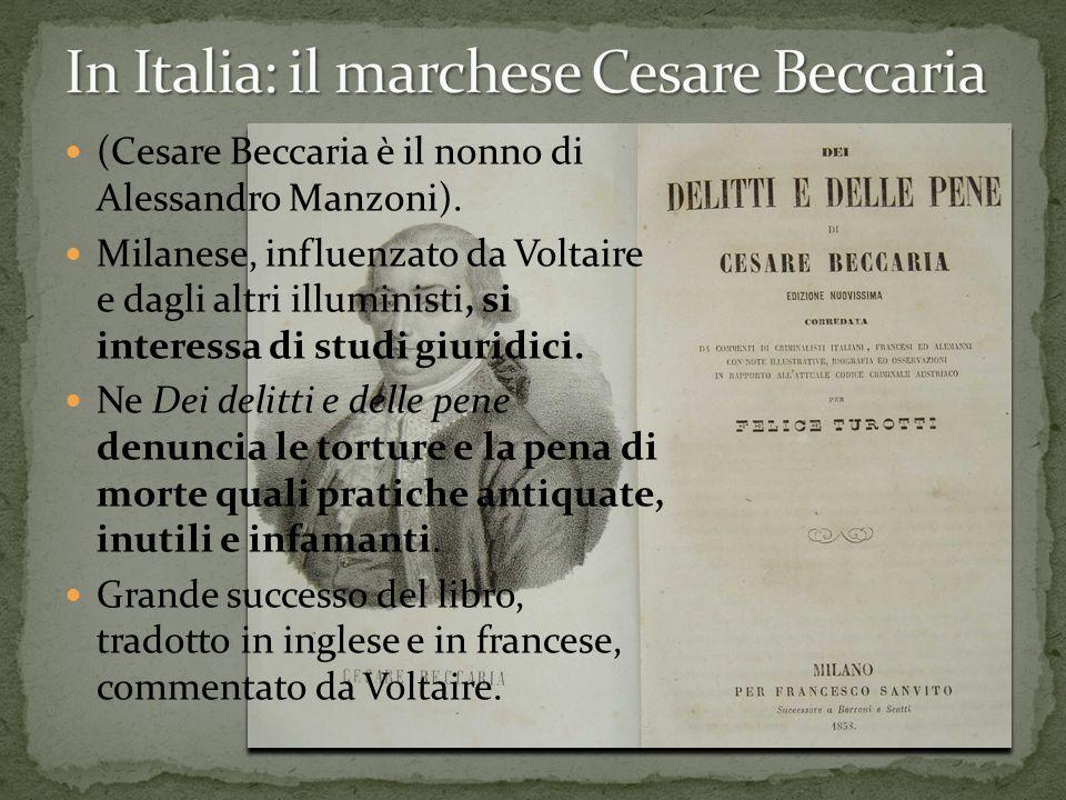 In Italia: il marchese Cesare Beccaria