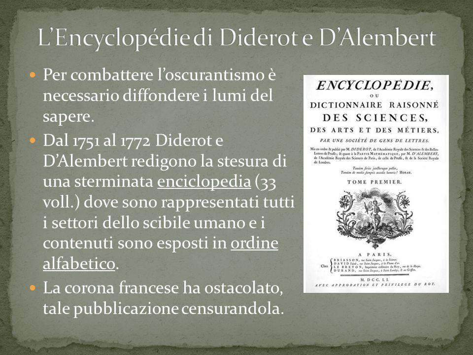 L'Encyclopédie di Diderot e D'Alembert