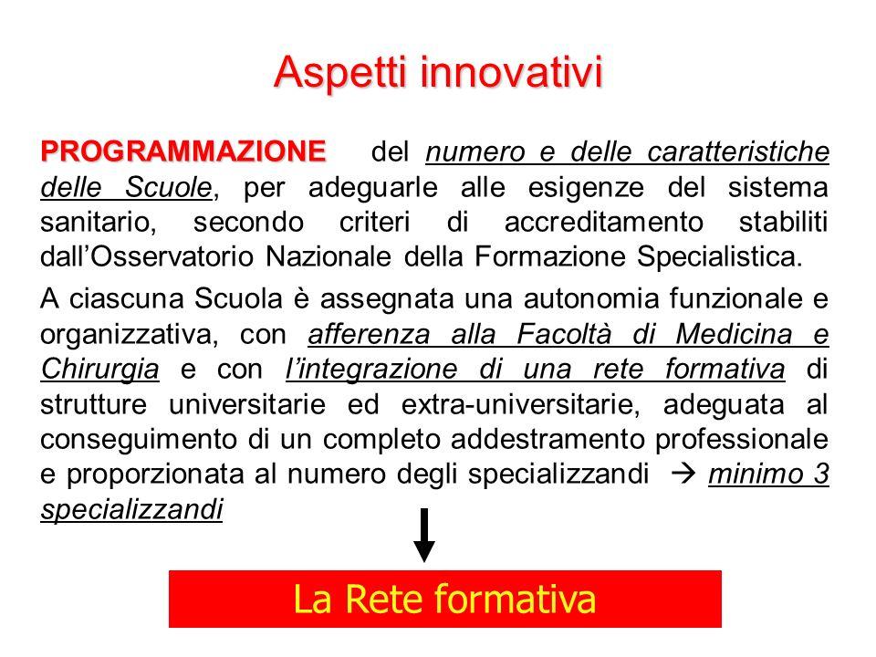 Aspetti innovativi La Rete formativa