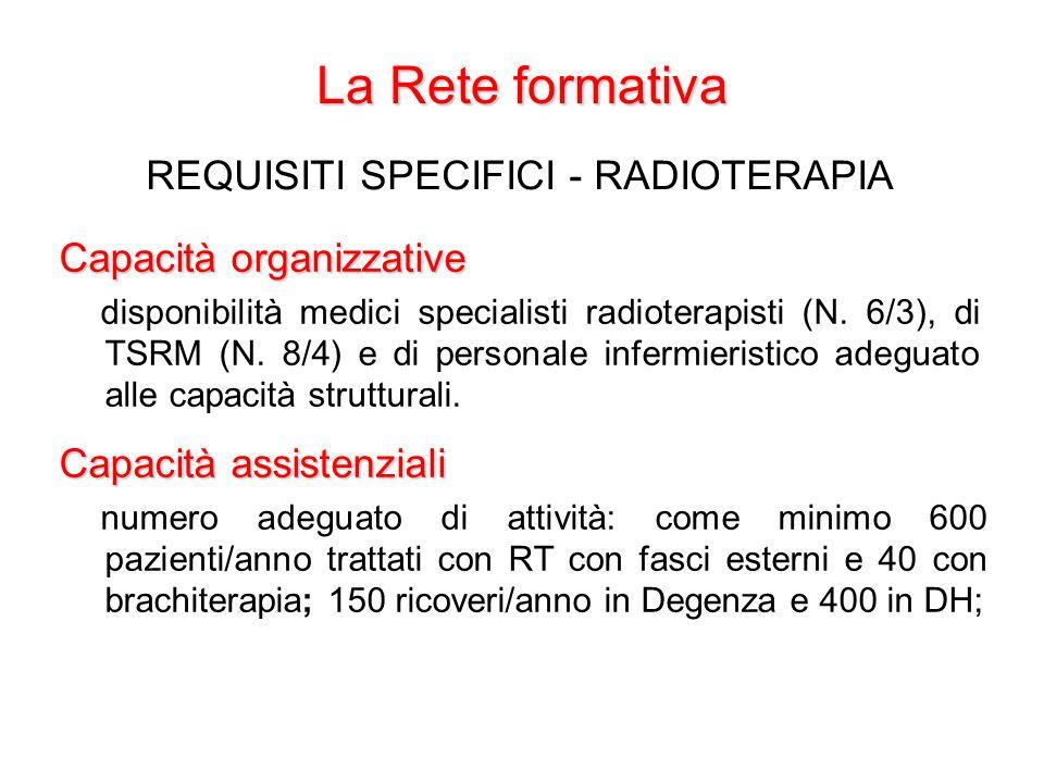 REQUISITI SPECIFICI - RADIOTERAPIA