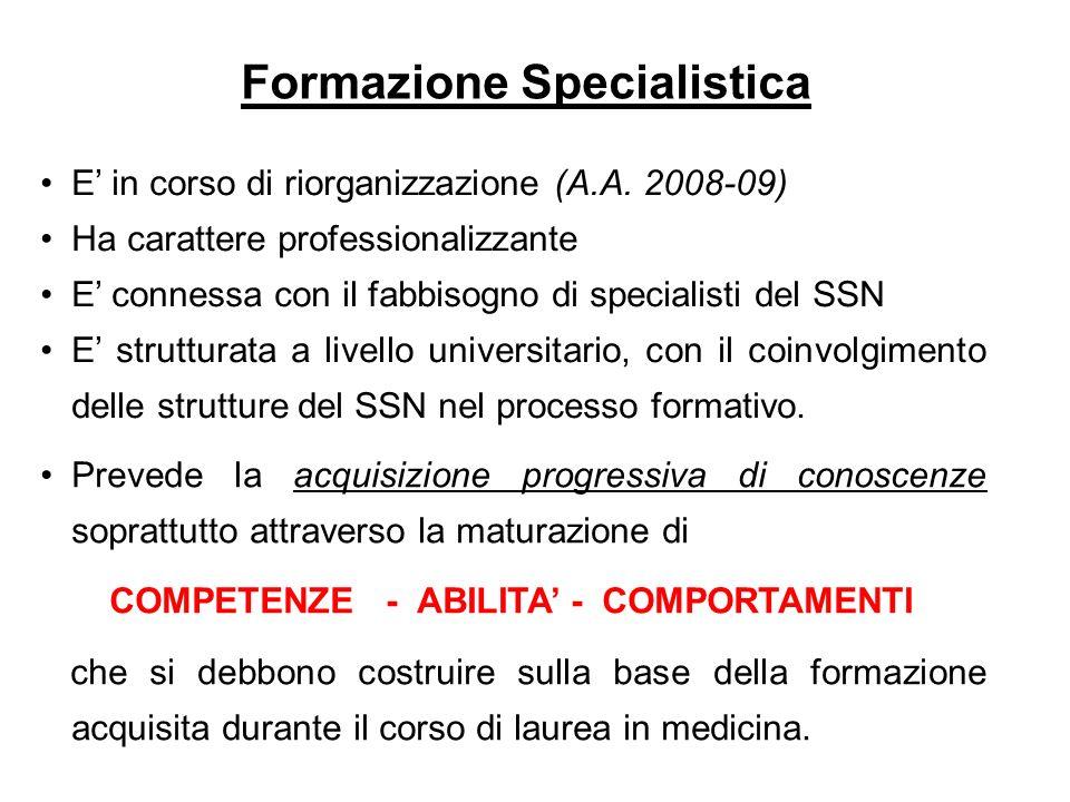 Formazione Specialistica