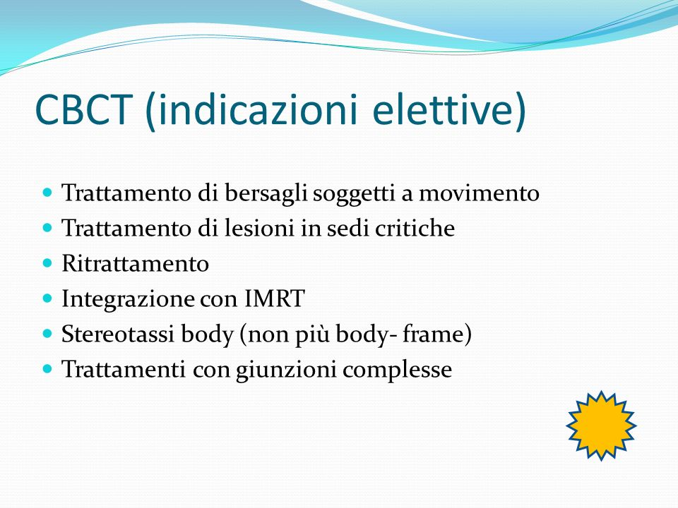 CBCT (indicazioni elettive)