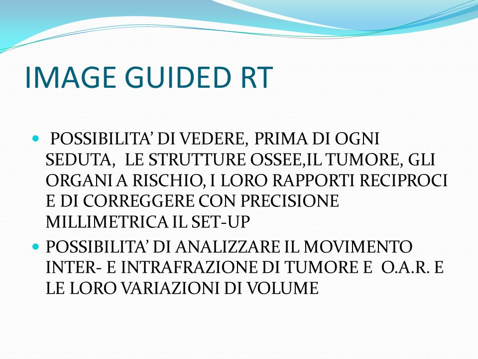 IMAGE GUIDED RT