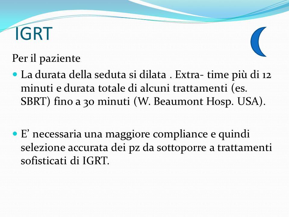 IGRT Per il paziente.
