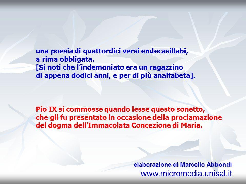 una poesia di quattordici versi endecasillabi, a rima obbligata.