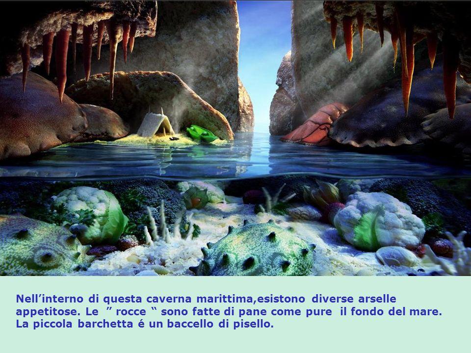 Nell'interno di questa caverna marittima,esistono diverse arselle appetitose.